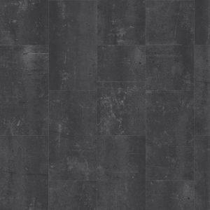 klik PVC Tegel zwart antraciet