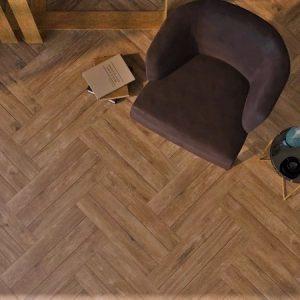 Nest walnoot bruin vloer-/wandtegel 33x66