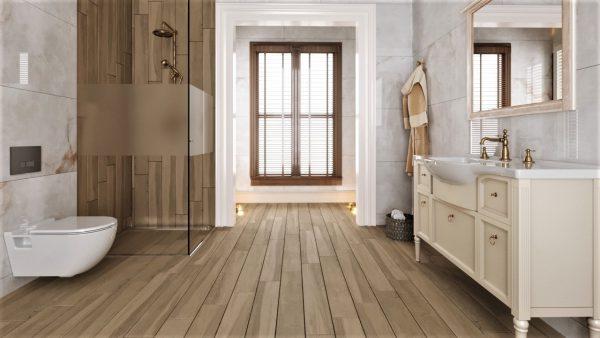Wood amandel beige vloer-/wandtegel 15x90